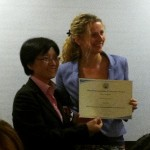 Photo at presentation Education and learning environments tailor made to breed female leadership - HKUWA